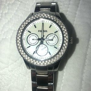 "Women's Fossil ""Stella"" Silver Watch"